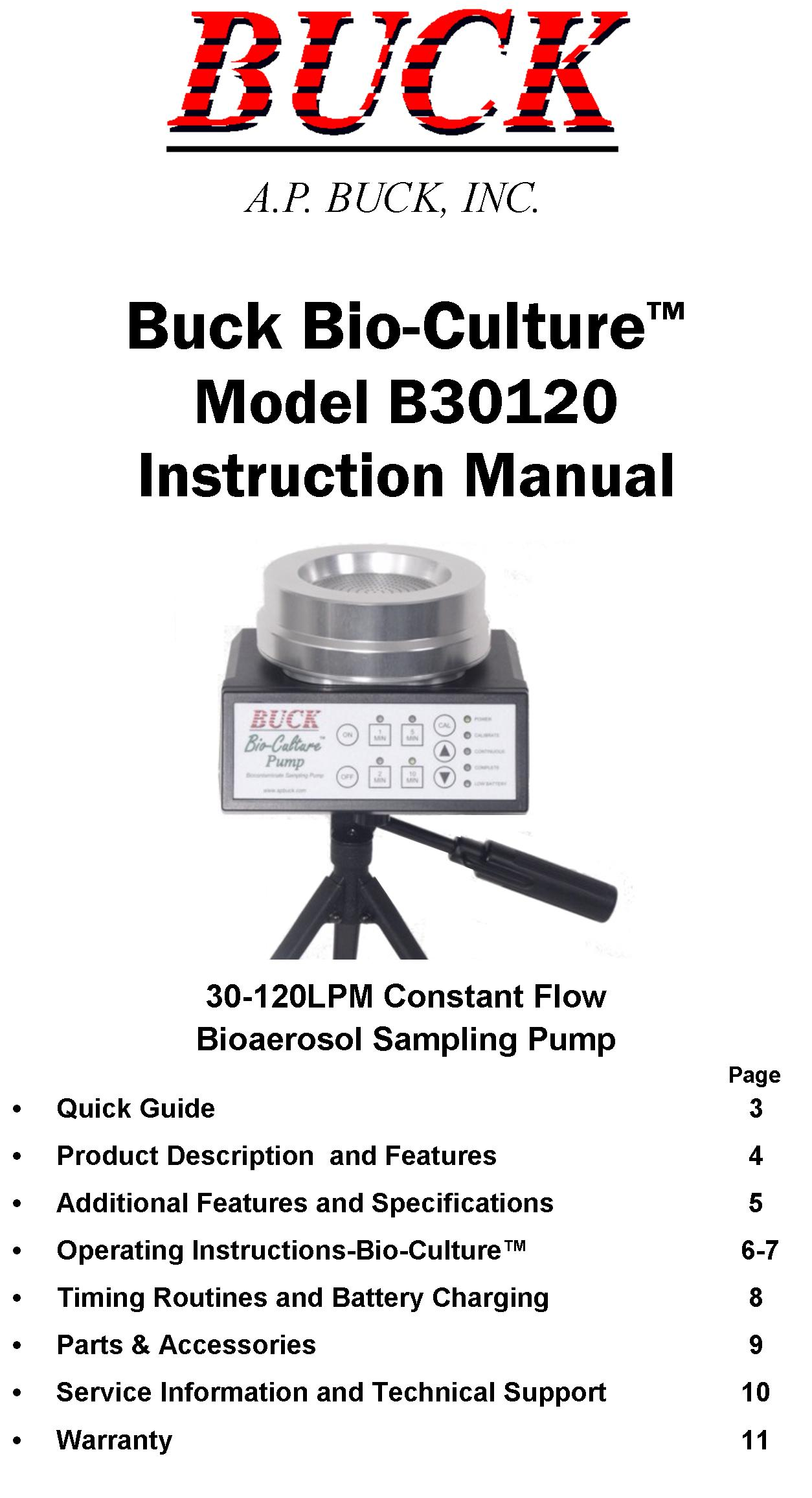 Bio-Culture Series Pump Instruction Manual