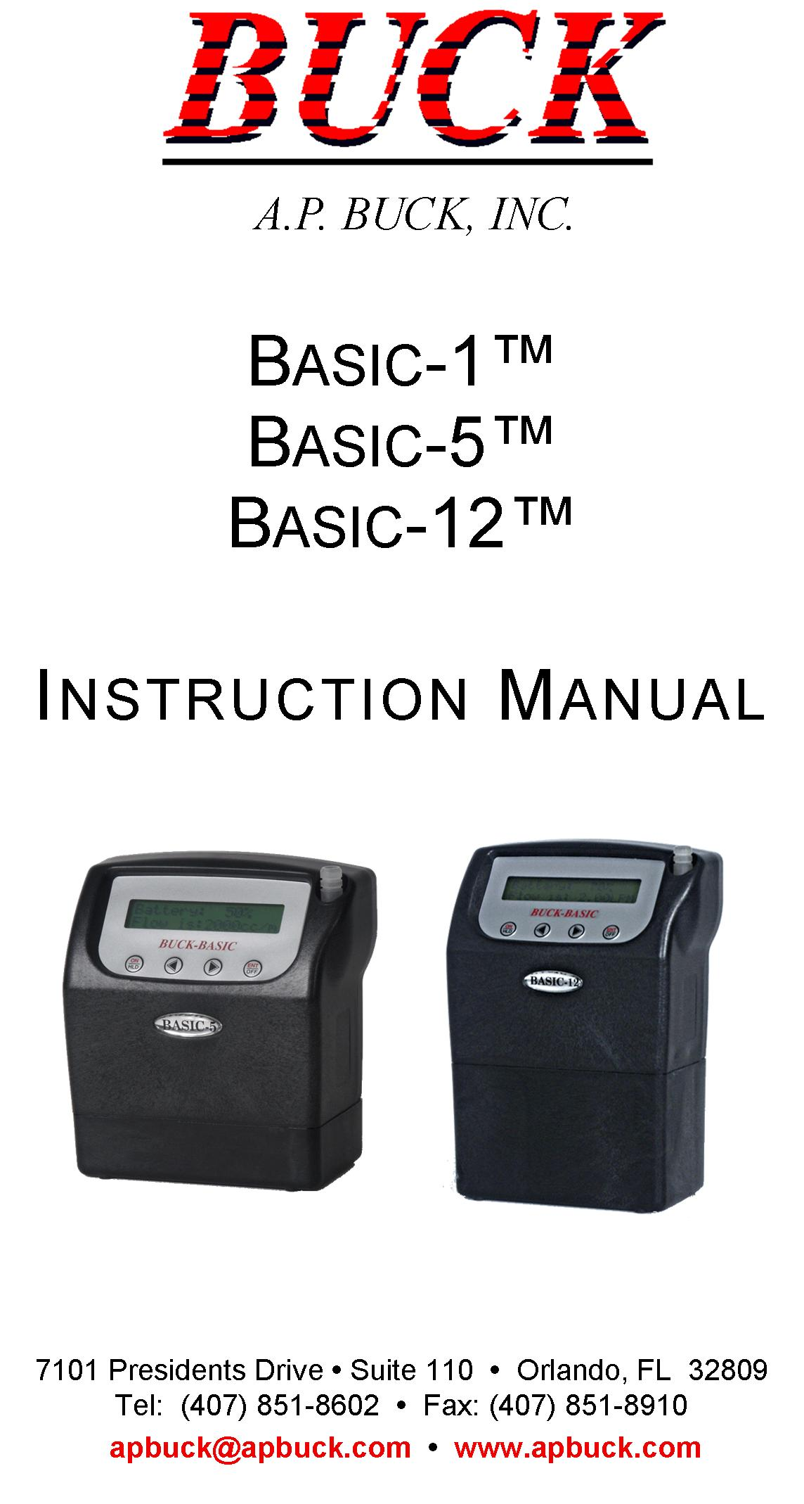 Basic Series Pump Instruction Manual
